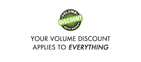 Volume discount, spend more and save more